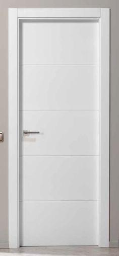 Puerta lacada 2300 bl hoja lacada galces de 70 30 - Pernios para puertas ...