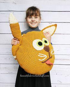Free Crochet Cat Pillow Pattern