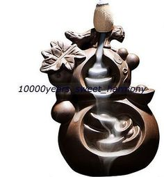 ARTISTIC-RED-STONEWARE-GOURD-SHAPED-SMOKE-BACKFLOW-INCENSE-BURNER-ZK0299