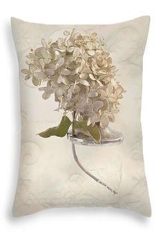 "Hydrangea Softness Throw Pillow 20"" x 14"""