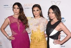 Maria Bravo, Eva Longoria and Alina Peralta attend the Global Gift Gala during day five of the 11th Annual Dubai International Film Festival held at White Dubai on December 14, 2014 in Dubai, United Arab Emirates.