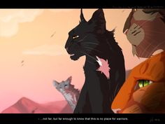 Warrior cats by Erin Hunter, art by Mizu-no-Akira. left to right: Feathertail, Ravenpaw, Squirrelpaw, Brambleclaw. Warrior Cats Quotes, Warrior Cats Comics, Warrior Cats Fan Art, Warrior Cats Series, Warrior Cats Books, Warrior Cat Drawings, Cat Comics, Cat Quotes, Warriors Pictures