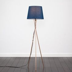 Camden Tripod Floor Lamp MiniSun Bulb Included: No, Shade Colour: Navy Blue Blue Floor Lamps, Floor Lamp Base, Swing Arm Floor Lamp, Arch Lamp, Torchiere Floor Lamp, Tripod Lamp, Lamp Bases, Camden, Feng Shui