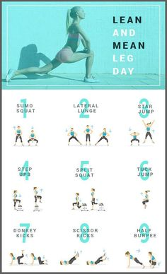 'Lean And Mean,' High-Intensity Workout For Strong Legs And Glutes(Fitness Tips For Teens) Workouts For Teens, Fun Workouts, At Home Workouts, Lean Leg Workouts, Workout Routines, Leaner Legs Workout, Inner Thigh Workouts, Thin Legs Workout, Toned Legs Workout