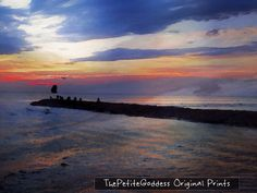 Sunset+at+the+inlet+Cape+May+8+x10+watercolor+by+ThePetiteGoddess,+$9.00