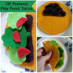 Munchkin and Bean: DIY Pretend Play Food: Tacos