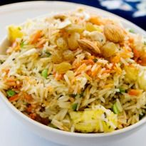 Vegetable Biryani: A garden fresh vegetable biryani, bursting with spices and beautiful in its simplicity!