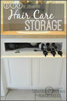 DIY Under-the-Sink Hair Tool Storage