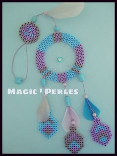 """Dreamcatcher hama perler beads - Collection """" Attrapes Rêves"""" by Alice Tobbi"""