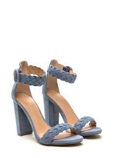 Make The Braid Woven Strap Chunky Heels | GoJane #braid #chunky #heels…