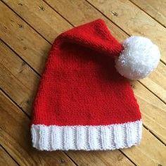 Bonnet Père Noël tricot