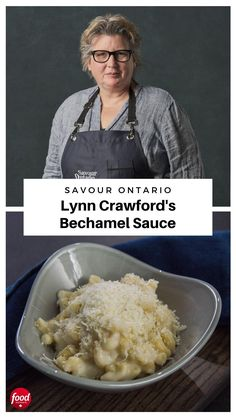 Chef Lynn Crawford reveals how to prepare a classic French bechamel sauce (featuring Ontario butter and milk). Veggie Recipes, Indian Food Recipes, Chicken Recipes, Cooking Recipes, Chef Recipes, Dinner Recipes, Canadian Dishes, Canadian Cuisine, Lynn Crawford