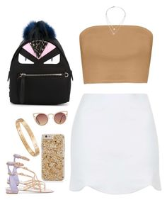 """""""Untitled #889"""" by cjasmyne on Polyvore featuring René Caovilla, Topshop, Fendi, Michael Kors, Quay and Cartier"""