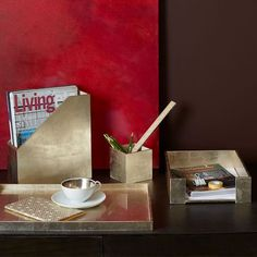 Lacquer Office Accessories - Antique Silver | west elm