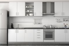 Are You Considering New Kitchen Cabinets? The style you select for the new kitchen cabinets depends totally on you. What feel do you wish to create? White Kitchen Cabinets, Painting Kitchen Cabinets, Kitchen Paint, Kitchen Countertops, Kitchen Appliances, Kitchen Island, Kitchen White, Marble Countertops, Basic Kitchen