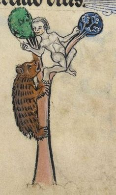 "Detail from ""The Rutland Psalter"", medieval (c1260), British Library Add MS 62925. f 53r"