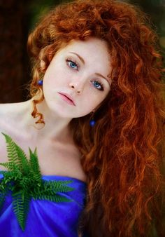 Red hair and blue eyes are the rarest combination in the world                                                                                                                                                                                 More