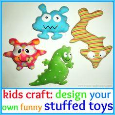 Design your own stuffed toys / Gestalte deine eigenen Stofftiere
