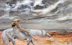 Les Errants de la Mancha   (toile centrale)
