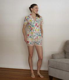 Carolyn Pyjamas in Art Gallery and silk organza   LILY SAGE & CO