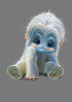 64 Ideas For Baby Animals Dibujo Cute Fantasy Creatures, Cute Creatures, Magical Creatures, Cute Animal Drawings, Cute Drawings, Cute Baby Animals, Cute Cartoon, Cute Art, Cute Pictures