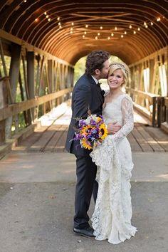 O vestido de noiva de Kelly Clarkson