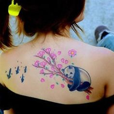 Back Panda Bear Tattoo Meaning And Ideas -Readmore http://tattoosclick.com/panda-bear-tattoo-designs