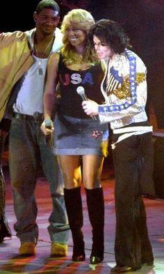 Usher, Mariah Carey and Michael Jackson.