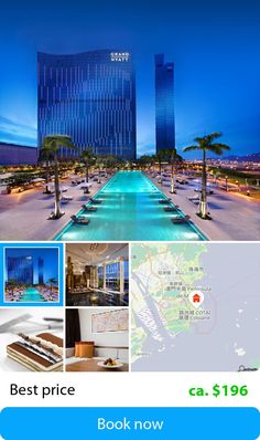 Grand Hyatt Macau (Macao (Macau), Macau) – The hotel is located at City of Dreams, an integrated urban entertainment resort on the Cotai. It is only 10 minutes from Macau Ferry Terminal at Cotai and approx. 1 km from Macau International Airport.
