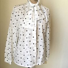 Shirt Long sleeves shirt , with a cute bow tie  Tops Button Down Shirts