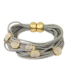 Love this Gold & Gray String Magnetic Bracelet by In Things on #zulily! #zulilyfinds