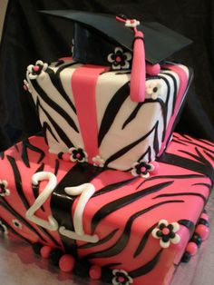 Want to create a graduation party your girl will never forget? Make it a zebra print graduation party and decorate everything with zebra prints right down to the cake.