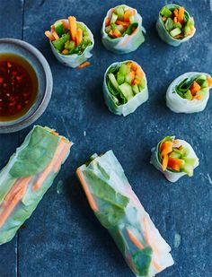 Get the raw spring rolls recipe from Raw. Vegan. Not Gross by Laura Miller!