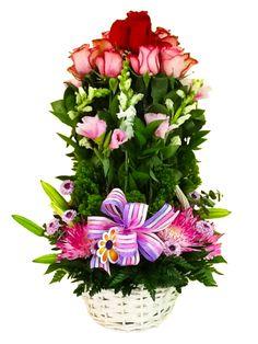Torre de rosas..modelo de Global Sunflower