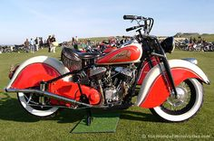 Fine 1947 Indian Chief V-Twin flathead motorcycle Vintage Indian Motorcycles, Antique Motorcycles, American Motorcycles, Vintage Bikes, Harley Davidson Motorcycles, Cars And Motorcycles, Vintage Cars, Custom Motorcycles, Indian Motorbike