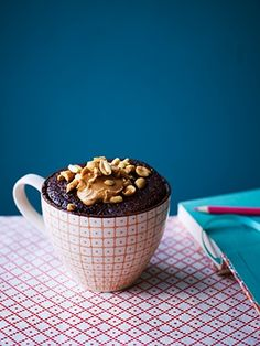 Recipes from The Nest - Chocolate & Peanut Butter Mug Cake