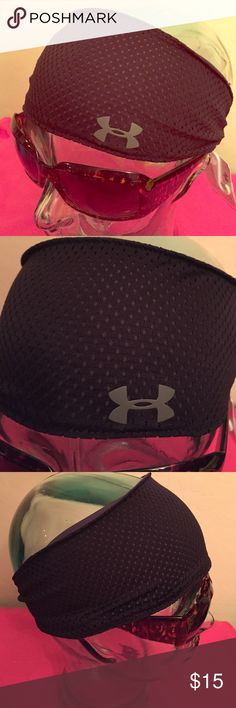 ONE LEFT! Under Armour Wide Headband Under Armour Wide Headband. Unisex. Black & Grey Mesh. Grey UA Logo on the Left Side. Wear to Feel Cool, Dry, & Light. Inner Black Non-Slip Strips. Black Elastic Back Band. Brand New. Excellent Condition. No Trades. Have 3 in Stock. Only have 3 in Stock. I have one of these myself. Love❤️It!  Under Armour Accessories Hair Accessories