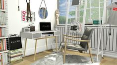 Office Set #12 at MXIMS via Sims 4 Updates  Check more at http://sims4updates.net/furniture/office-set-12-at-mxims/