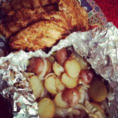 Easy Grilled Fajita Chicken and Grilled Greek Potatoes Dinner - Jeanette's Healthy Living