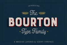 Bourton is a new typeface by Kimmy Design. It's the sans-serif cousin to Buford: In addition to a new look, it boasts more layering options, stylistic alternatives, graphic extras and even Best Script Fonts, Script Typeface, Sans Serif Fonts, New Fonts, Font Logo, Handwritten Fonts, Business Brochure, Business Card Logo, Design Typography