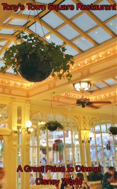 """Tony's Town Square Restaurant on Main Street, USA in Disney World transports you to Victorian era America and the Disney Animated Classic """"Lady and the Tramp."""""""