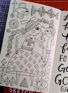 Sketchbook Page   flora chang, Happy Doodle Land