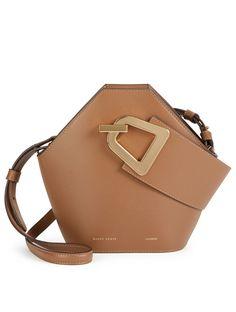 3ea1798987273 DANSE LENTE Mini Johnny Leather Hexagonal Bucket Bag Womens Brown