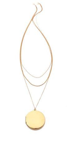Gorjana Ella Layer Locket Necklace | SHOPBOP