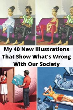 My 40 New #Illustrations That #Show What's Wrong With Our #Society Big Words, Wtf Funny, Hilarious Memes, Funny Humor, Funny Stuff, Random Stuff, Lol, Stay Young, Dance Videos