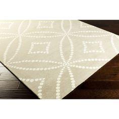 Hand-Tufted Joanne Geometric Pattern Rug (5' x 8') (Beige-(5' x 8')), Beige, Size 5' x 8' (Natural Fiber, Dots)