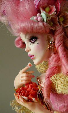 Marie Arden Pink Living: Marie Antoinette Valentine doll by Nicole West, Happy Pink Saturday Ooak Dolls, Barbie Dolls, Art Dolls, Marie Antoinette, Pretty Dolls, Beautiful Dolls, Photo Portrait, West Art, Realistic Dolls