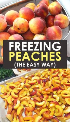 Easy Method For Freezing Peaches Learn How To Freeze Peaches Without Sugar And With The Skins Perfect For Pie, For Smoothies, For Cobbler Or Any Recipe With Fresh Fruit. Attempt It Today And Enjoy Farm Fresh Peaches Year Round Freezing Fruit, Freezing Vegetables, Fruits And Veggies, Freezing Strawberries, Can Peaches Recipes, Fruit Recipes, Fresh Peach Recipes, Frozen Meals, Frozen Fruit