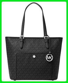 6f528d6fb42f Shop for Michael Kors Jet Set Black Large Snap Pocket Tote Bag . Get free  delivery at Overstock - Your Online Handbags Outlet Store!