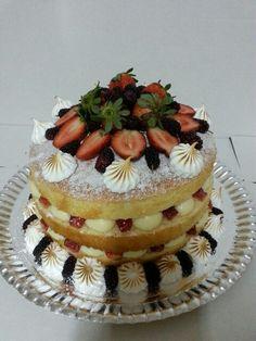 Strawberry & blackberry naked cake